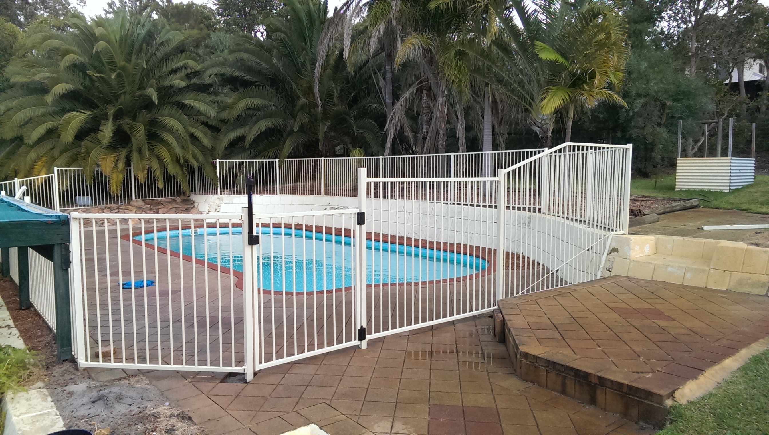 White Pool Fencing
