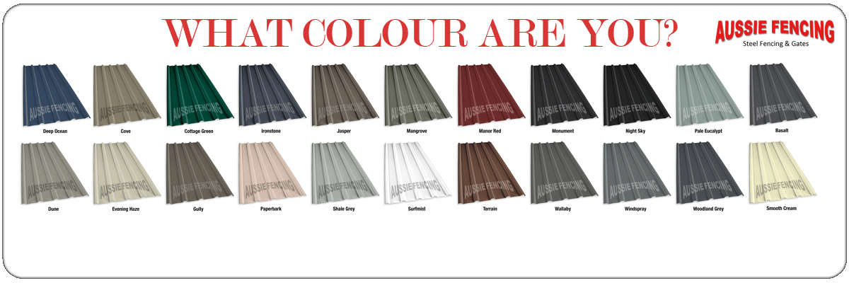 Roof Sheeting Colours